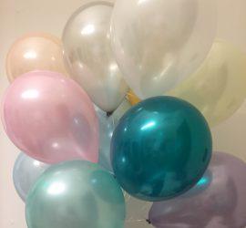 Luftballons seidenglanz pastellfarben