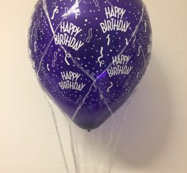 Luftballon im Ballonnetz