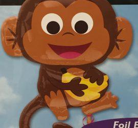 Folienballon Affe - Äffchen mit Banane