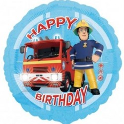 Feuerwehrmann SAM - Happy Birthday Folienballon 45 cm