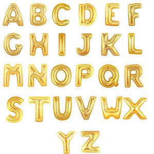 Buchstaben - gold - heliumgeeignet - 86cm hoch und 66 cm breit - Folie