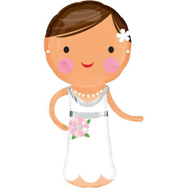 Folienballon Braut - schöne Deko für die Hochzeit!