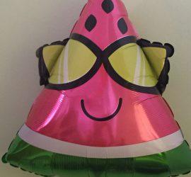 Folienballon Wassermelone mit Sonnenbrille - für die Sommerparty!
