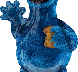Cookie Monster von der Sesamstrasse - Folienballon 88 cm hoch