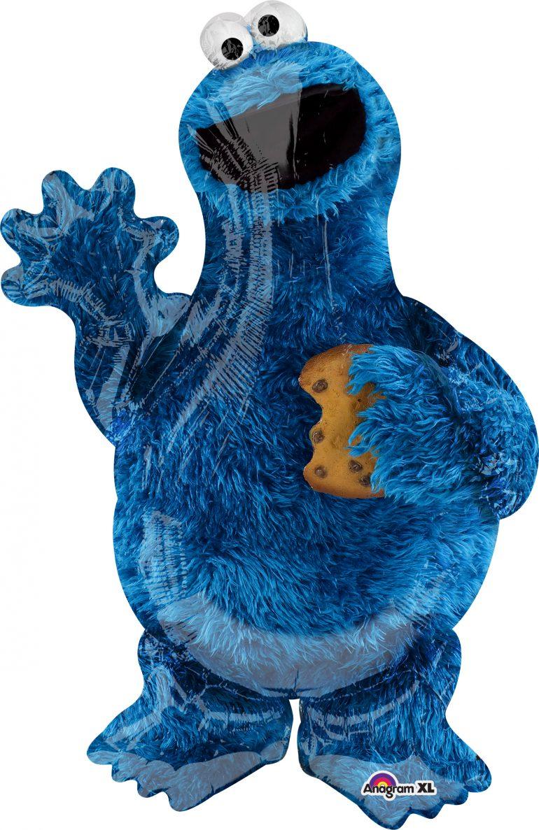 Cookie Monster von der Sesamstrasse - Folienballon 88 cm hoch