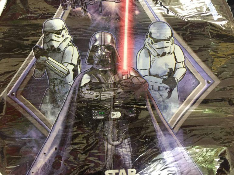 Starwars - runder Folienballon mit Darth Vader und Stormtrooper