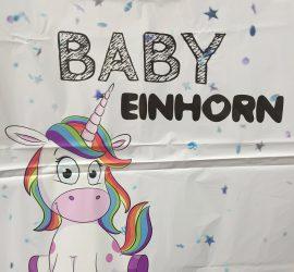 Folienballon `BABY Einhorn´ - für Einhornfans oder auch zur Geburt eines Sonnenscheins!