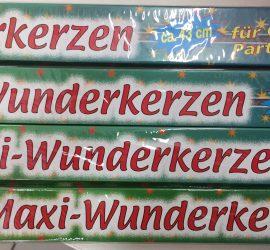Wunderkerzen - MaxiWunderkerzen - 43 cm lang - auch bekannt als Sternspritzer