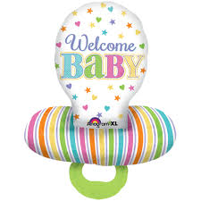 Babyschnuller - Folienballon - Welcome Baby - zur Geburt