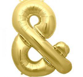 Folienballon `&´ - in den Farben gold und silber erhältlich! 86 cm hoch und ca. 66 cm breit!