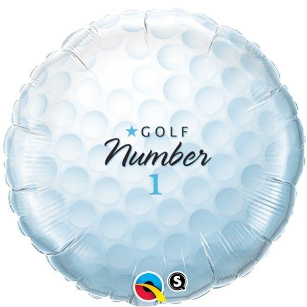 Golfball - Folienballon 45 cm rund