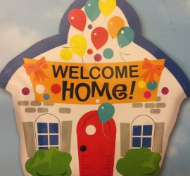 WELCOME HOME! Folienballon in Hausform 50 cm