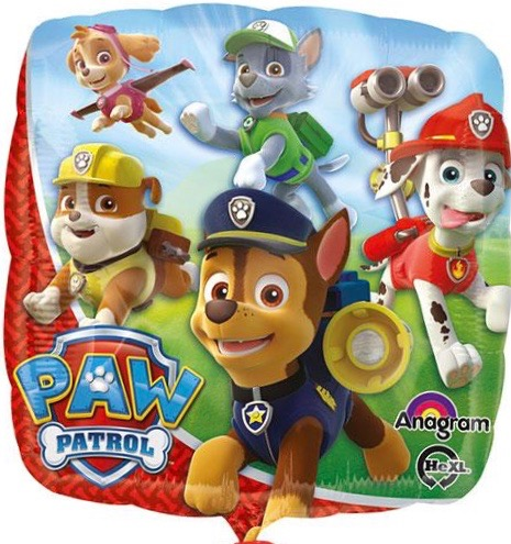 Paw Patrol mit seinen Freunden - Folienballon 45 cm