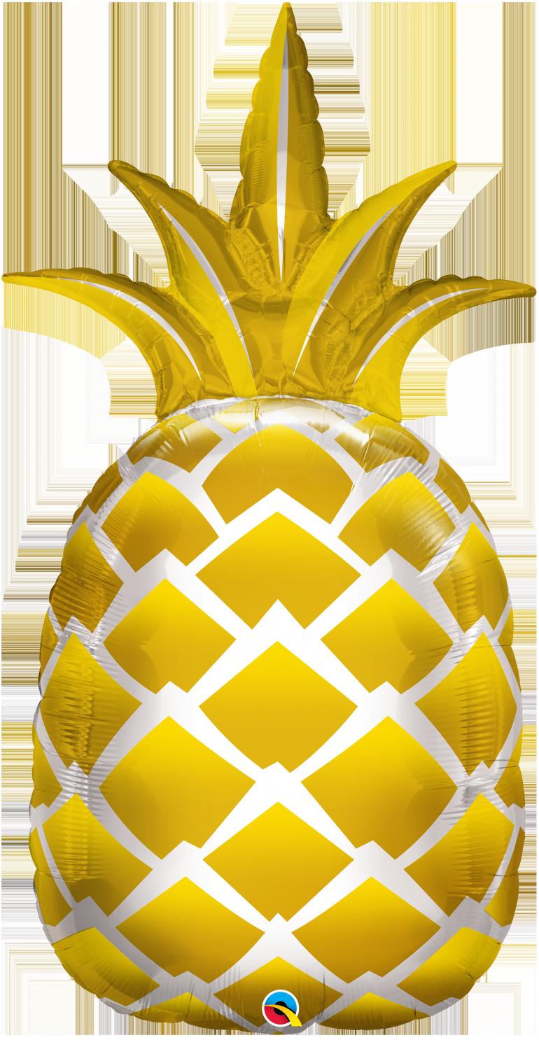 goldfarbene Ananas - riesiger Folienballon - 110 cm!