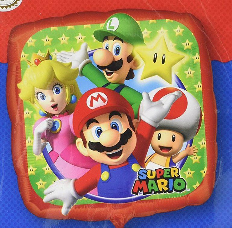 Super Mario und seine Freunde - Folienballon 43 cm groß
