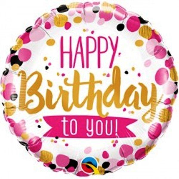 Happy Birthday to you! Geburtstagsballon Folie rund 45 cm