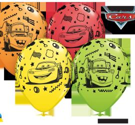 Cars - bunte Latexballons 27 cm groß in vier verschiedenen Farben!