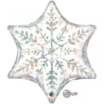 glitzender Folienstern im Schneeflockendesign - Winter/Weihnachten/Christmas