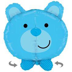 Teddybärkopf in blau, riesig! Zur Geburt, für die Babyparty (babyshower), zum Geburtstag!