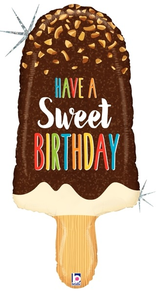 Geburtstagseis - Have a sweet Birthday - hab einen süßen Geburtstag - Folienballon 90 cm