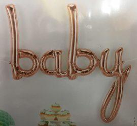 Schriftzug baby - rosegold - Luftfüllung