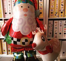 Airwalker Weihnachtsmann und Rentier - Santa Clause und Rudolf - Weihnachten - Advent