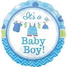 It´s a Baby Boy! Es ist ein Junge! Zur Geburt, zur Babyparty, Babyshower, runder Folienballon 45 cm