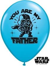 StarWars `You are my Father´ Darth Vader - Latexballon in blau 27 cm