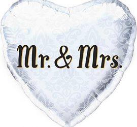 Mr. & Mrs. - Hochzeit - wedding - Verlobung - Folienherz 45 cm