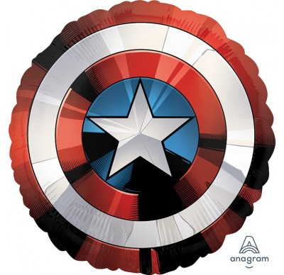 Folienballon Marvel´s The Avangers - Schild vom Captain America, Superheld