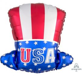 Uncle Sam Hat - USA Hut - Folienballon - 45 cm hoch