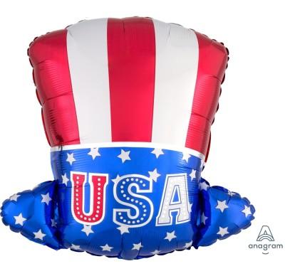 Uncle Sam Hat - USA Hut - Folienballon - 45 cm hoch