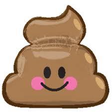Emoji Poop (kaka) Folienballon