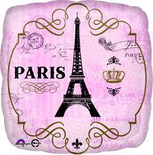 Paris, Eiffelturm - la tour eiffel - Folienballon - 45 cm