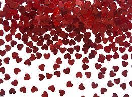 Tischkonfetti - rote Herzen