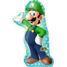 Luigi - Freund von Super Mario - Figur von Nintendo - Folienballon 96 cm hoch
