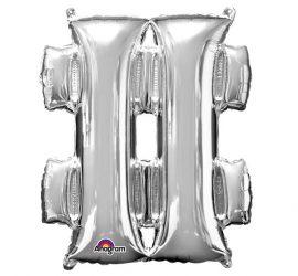 Folienballon Sonderzeichen Raute in silber, 86 cm groß, für Helium geeignet