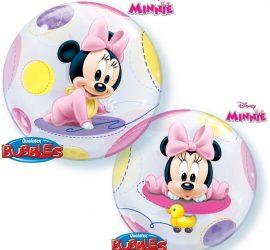 Minniemouse Baby Bubble 55 cm, für die Babyparty, Babyshower, zur Geburt, zum Geburtstag