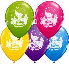 Baby Shower - Babyparty - vor der Geburt des Babys - Latexballons in fünf schönen Farben!