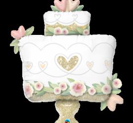 Hochzeitstorte in den Farben weiß, gold, rosegold und rosa, 104 cm groß! Folie! Weddingcake!
