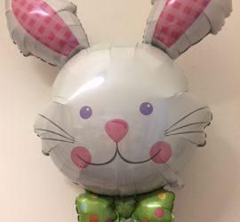 Riesiger Hasenkopf mit Osterschleife - Folienballon 80 cm