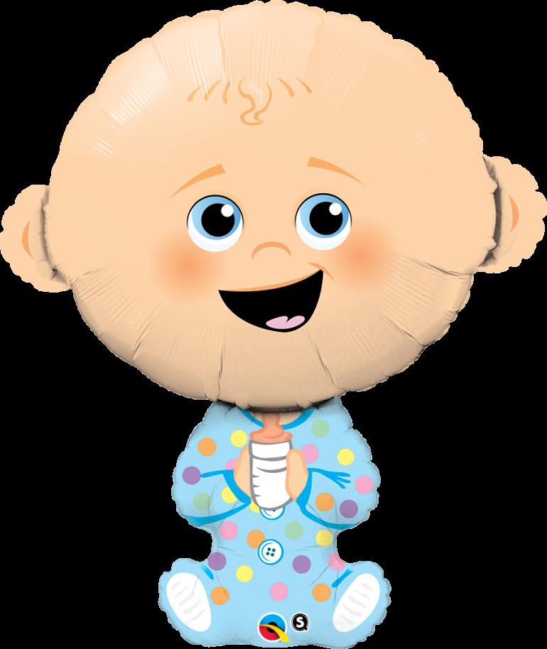 BabyBoy - Folienballon in Form eines Babys - zur Geburt, für die Babyparty/Babyshower