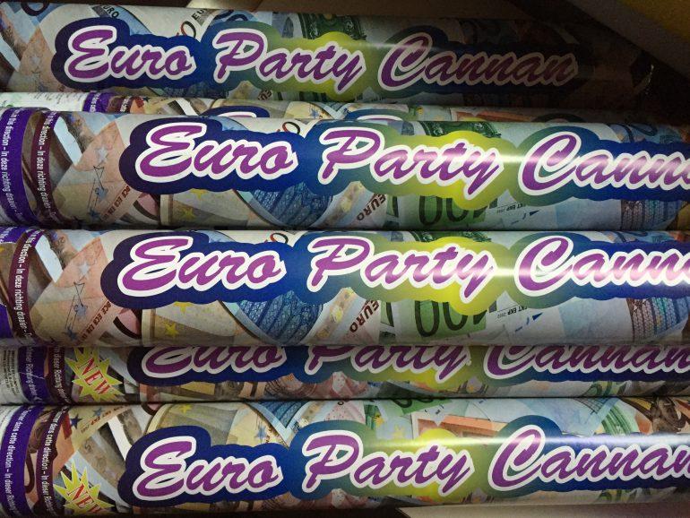 Konfettikanone - Partypopper - Geld - Euro
