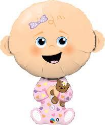 BabyGirl - Folienballon in Form eines Babys - zur Geburt, für die Babyparty/Babyshower