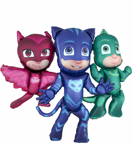 Airwalker PJ MASKS - 1,30 m groß! Pyjamahelden - Catboy, Eulette und Gecko