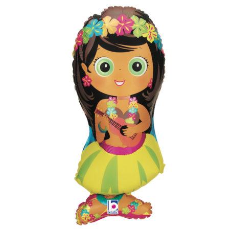 Hula Mädchen - Folienballon 86 cm