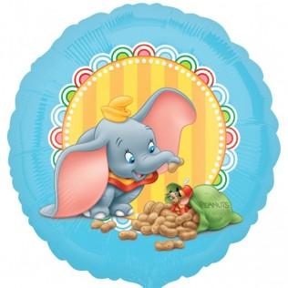 Dumbo und sein Freund Timothy - runder Folienballon 45 cm