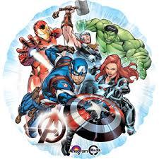 Avengers - Superhelden - Mavel - runder Folienballon 45 cm
