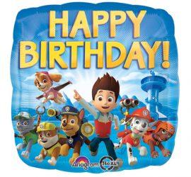 Paw Patrol Happy Birthday Ballon mit all seinen Freunden - Folie 45 cm