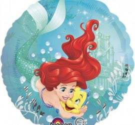 Arielle und Fabius - Disney - runder Folienballon 45 cm